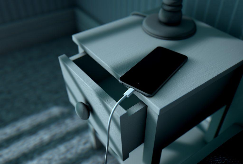 Handy lädt bei Nacht mit Nachtstrom